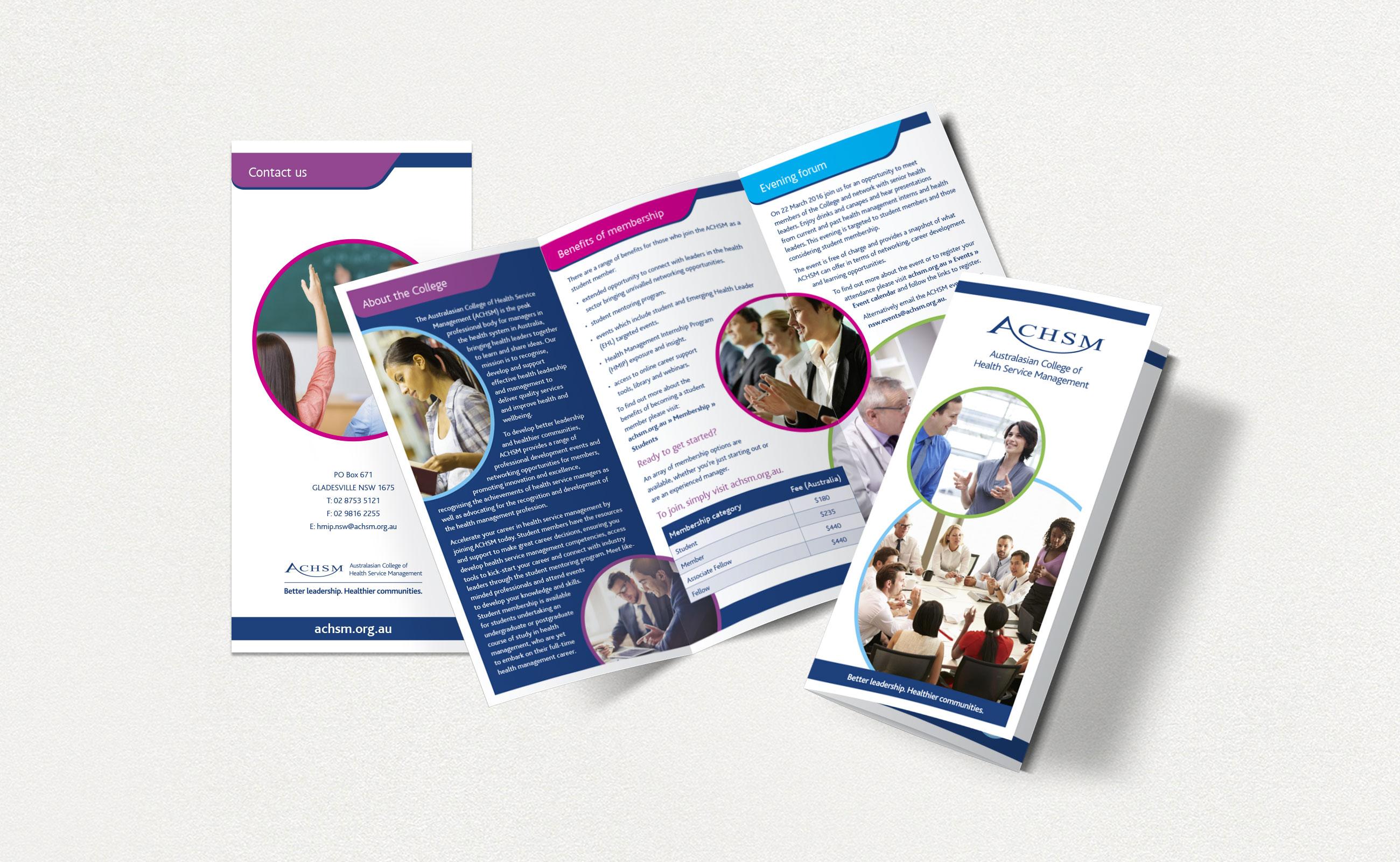 ACHSM Student brochures