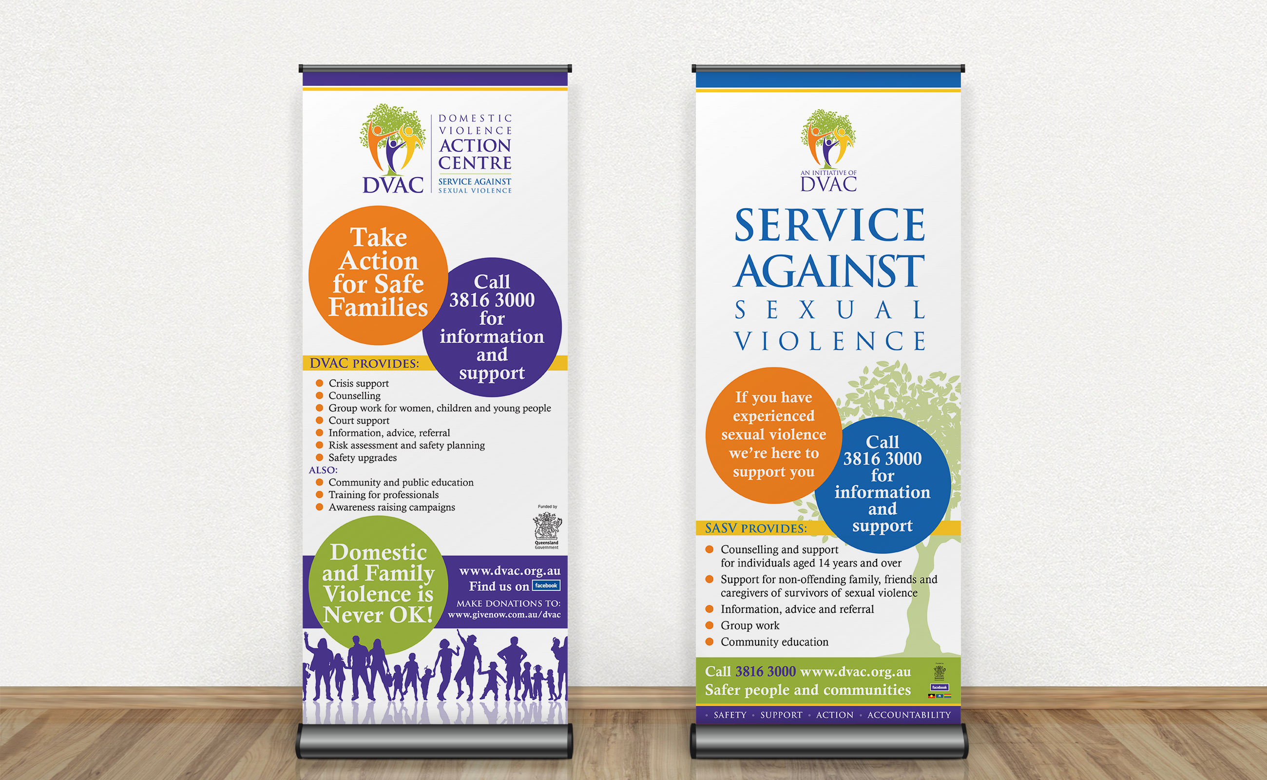 DVAC pull-up banners